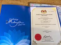Sijil Daripada Kementerian Pelancongan Malaysia 2014
