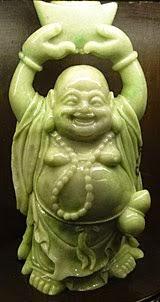 A standing Jade Buddha
