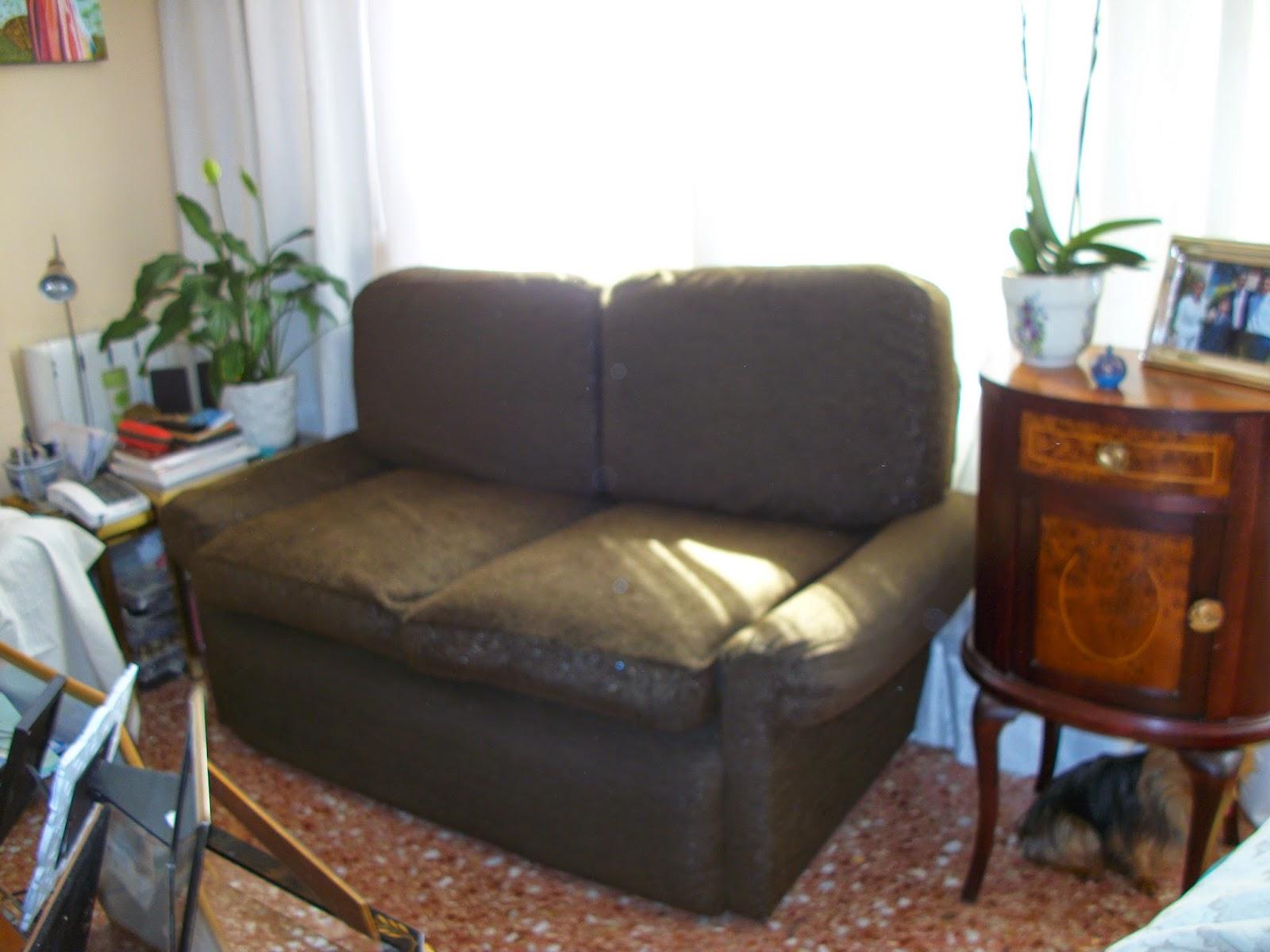 El blog de la restauradora tapizar un sof de dos y de - Tapizar cojines sofa ...