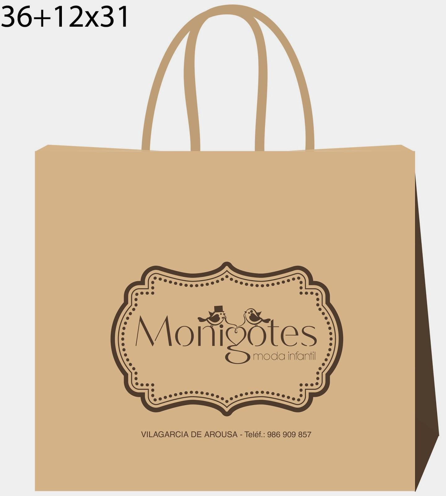 Bolsas de papel bolsas de papel realizadas para marcas de - Bolsas para ropa ...