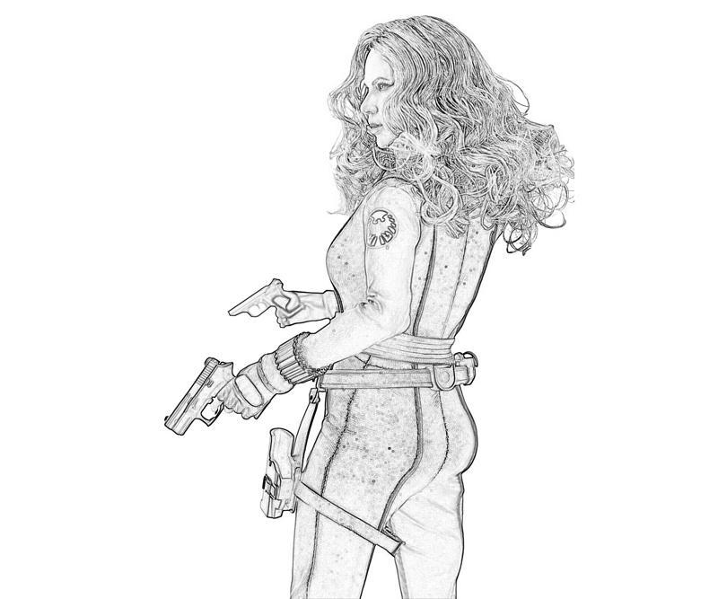 printable iron man 2 black widow character_coloring pages - Black Widow Spider Coloring Pages