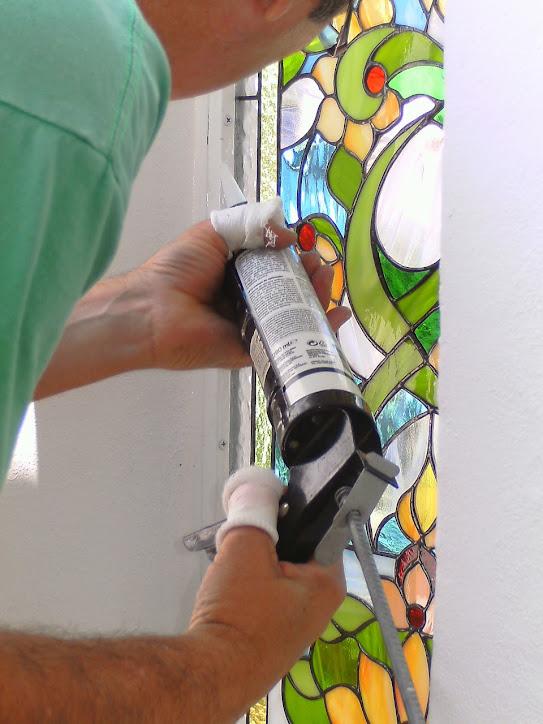 Instalación de la vidriera