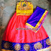 Bright Yellow Pink Purple lehenga