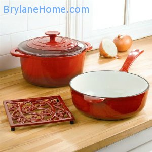 Brylane home 4 piece cast iron set
