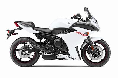 2012 Yamaha FZ6R New White Color Photo