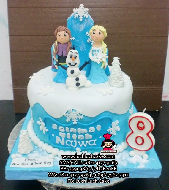 Kue Tart Frozen Fondant 3d Daerah Surabaya - Sidoarjo