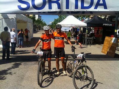 Yo y Toni con la nueva equipación Retto Team