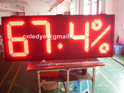red time temperature clock sign