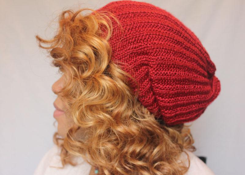 Ribbed Knit Hat, Byzantium Knits