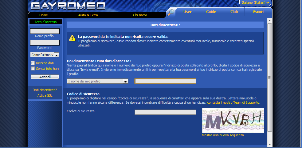 chat gay italiana romeo escort