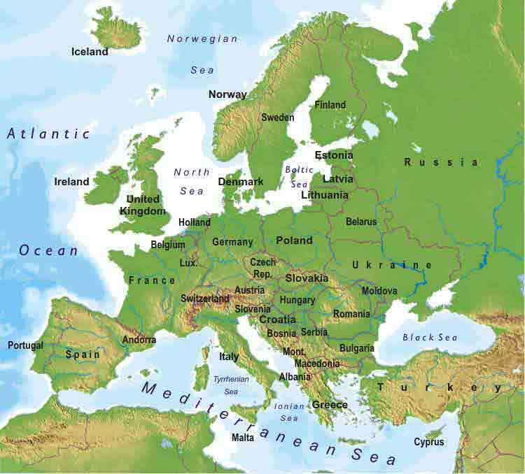 map of europe travel