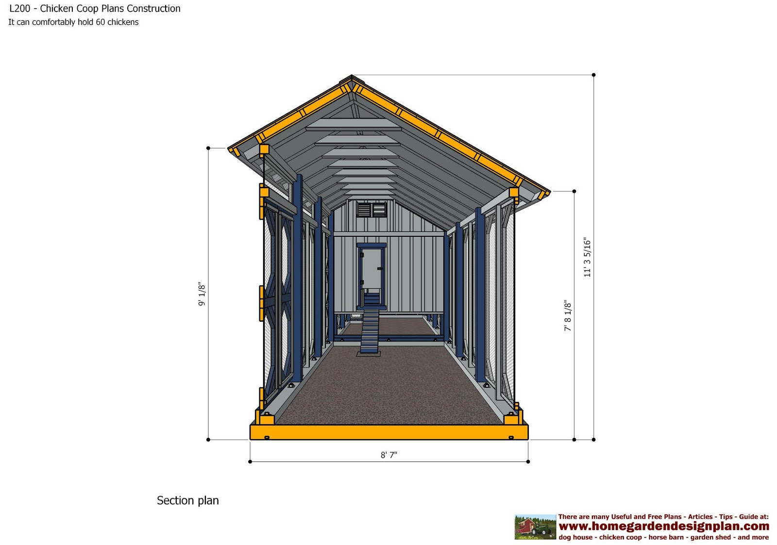 Home garden plans l200 chicken coop plans construction for How to design a chicken coop