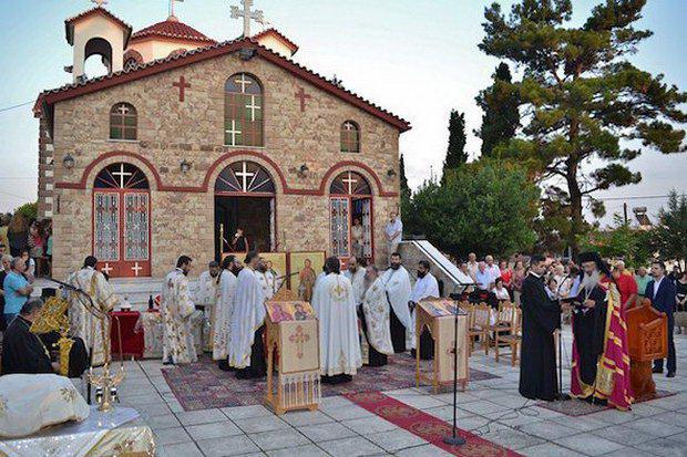 Πλήθος πιστών στην πανήγυρη της Αγίας Μαρίνας Μαΐστρου
