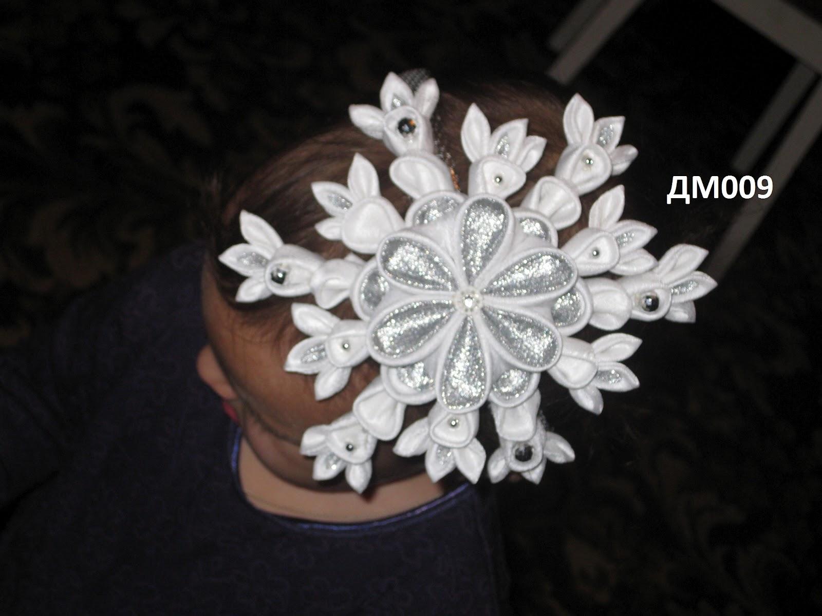 Украшение на голову снежинка своими руками