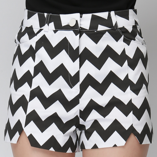 Zigzag High Waist Shorts