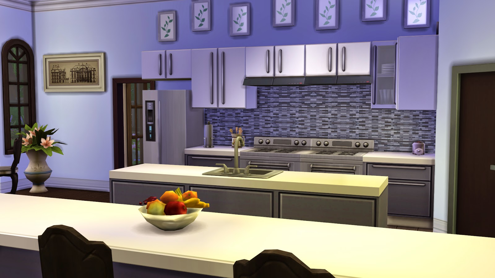 Modern Kitchen Backsplash 2014 my sims 4 blog: modern glass tile mosaic kitchen backsplash