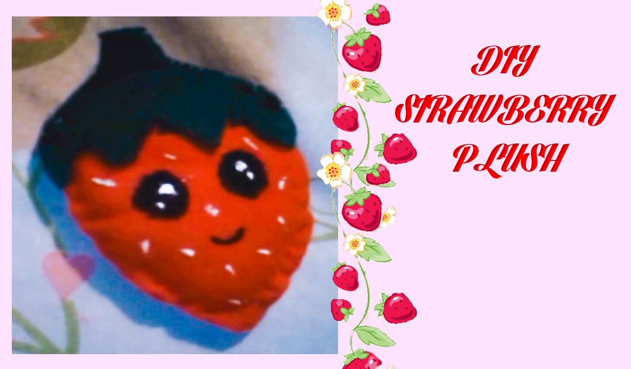 Diy kawaii, Strawberry Plush, youtube,
