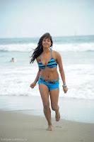 Sanjana, in, Bikini, at, Beach