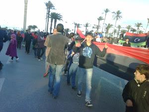 تخليد ذكرى 23 فبراير 2011 يوم خروج المظاهرات من تاجوراء الى ميدان الشهداء