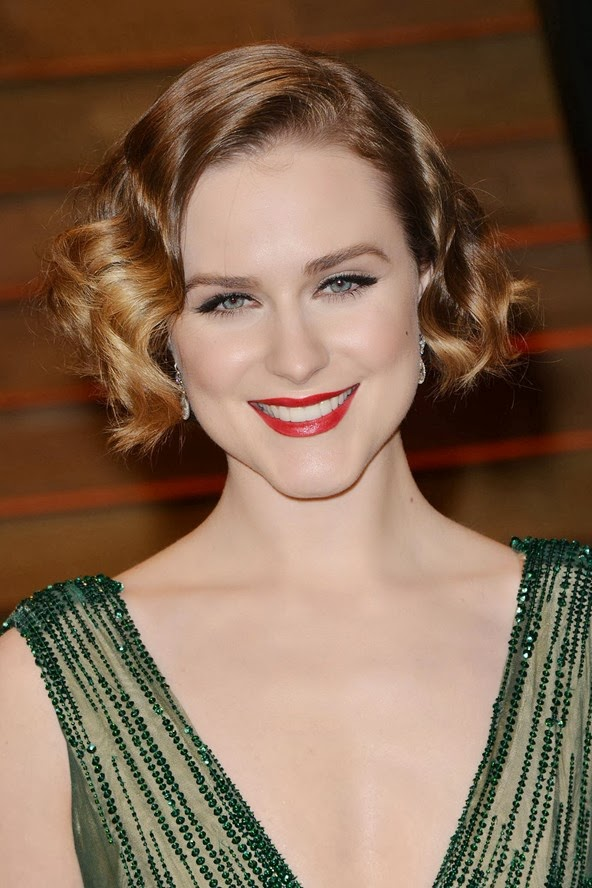 Evan Rachel Wood goes for vintage glamour with finger waves