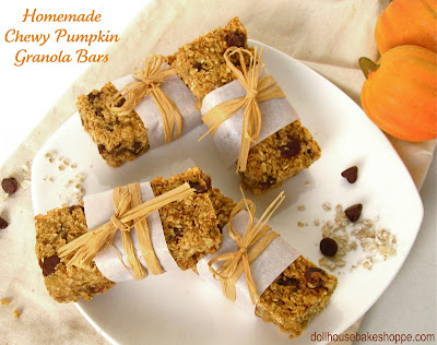 It Inspired Me: Chewy Pumpkin Pecan Maple Chocolate Chip Granola Bars
