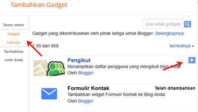 Cara Merubah Tampilan Widget Follower Blogger