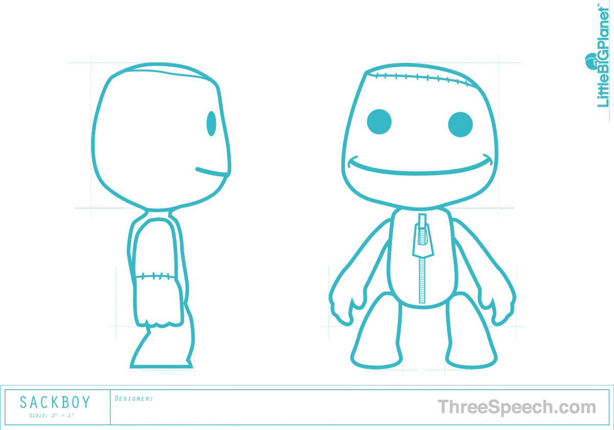 How to Draw Little Big PlaSackboy Drawing