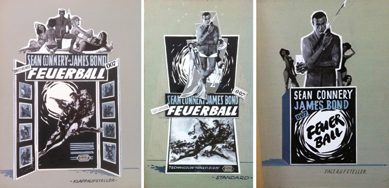 illustrated 007 the art of james bond promoting thunderball in germany. Black Bedroom Furniture Sets. Home Design Ideas
