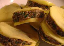 Mbatin / libyan stuffed potatoes