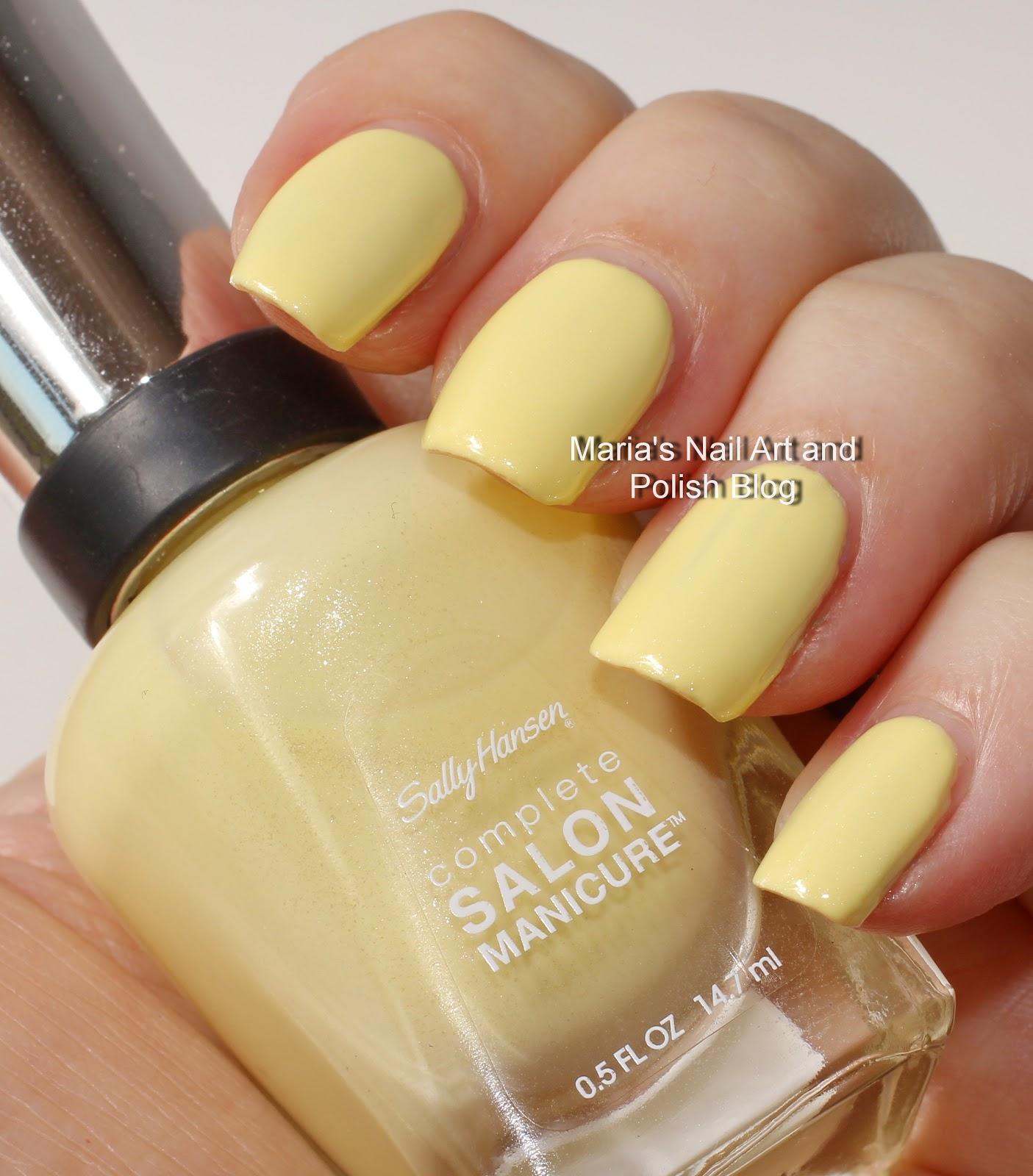 marias nail art and polish blog sally hansen swatches go bananas