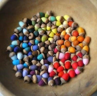 Ideas para Reciclar Bellotas por Navidad, I Parte