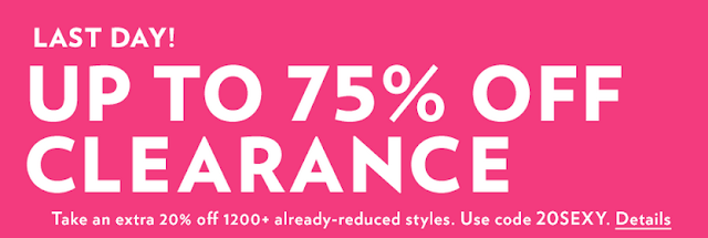 Extra 20% Off Clearance w/ Online Promo Code