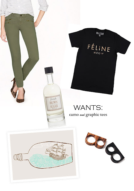 J.Crew, print, rings, clothing, camo, skinnies, pants, Fresh, perfume, fragrance, wish list, a hammer & heels, feline, celfie, whowhatwear