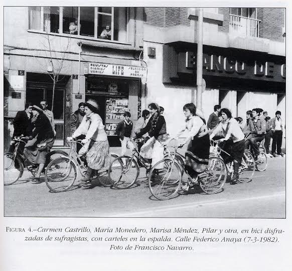 sufragistas salamanca en bici