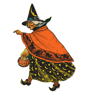 Vintage Beistle Witch Cutout