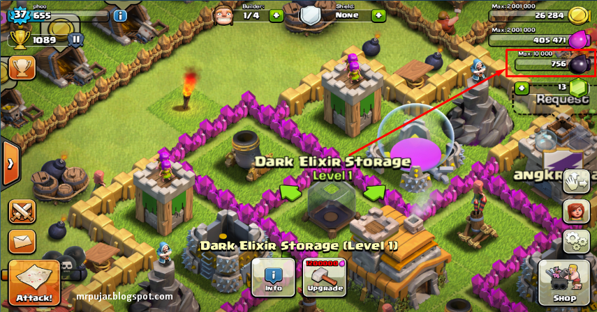 dark elixir storage coc