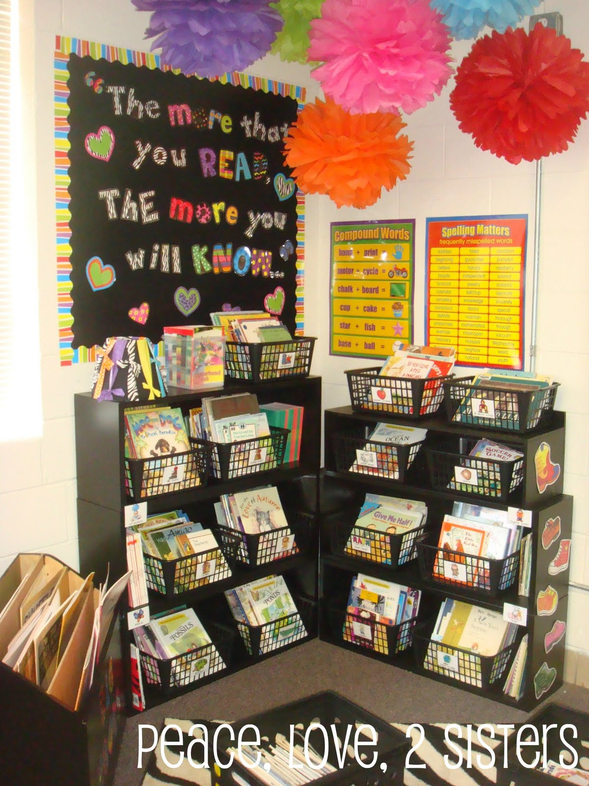 Classroom Book Ideas ~ Peace love sisters show and tell monday classroom tour
