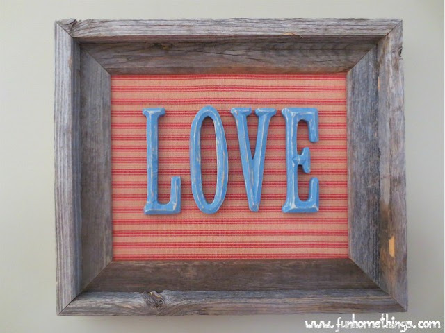 Valentine's Decor Rustic Love Sign Tutorial