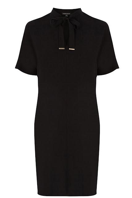 black tie neck dress