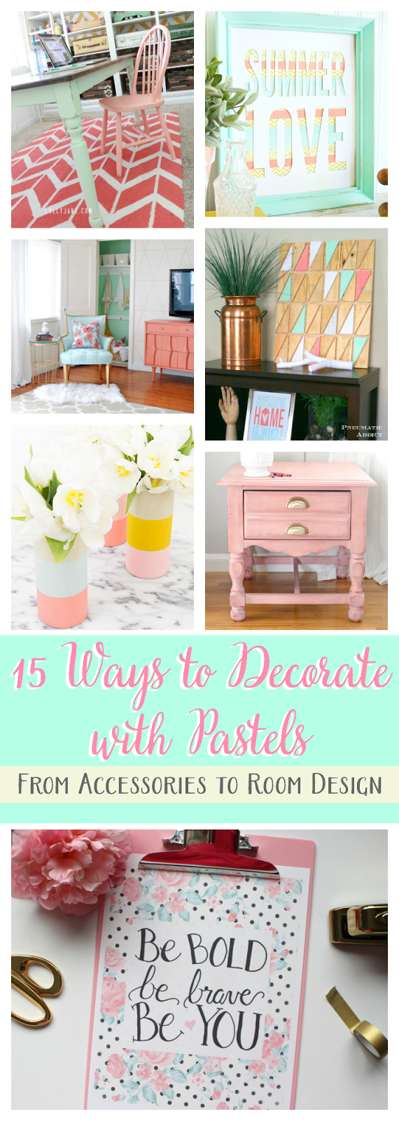 The Crafted Collective: 15 Ways to Decorate with Pastels pitterandglink.com