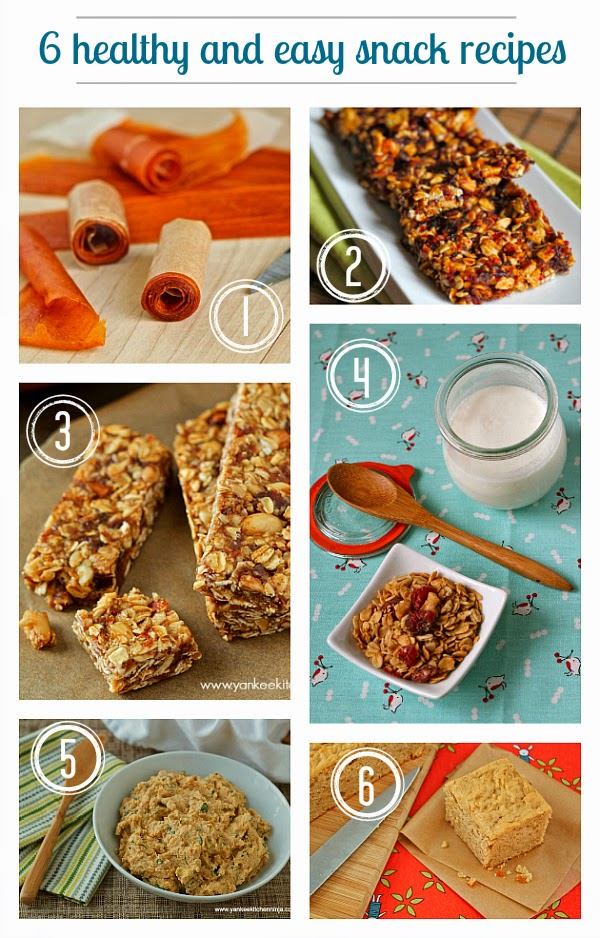 Six healthy and easy snack recipes
