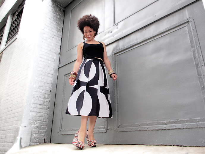 oonaballoona | a sewing blog by marcy harriell | marimekko midi skirt | back in black