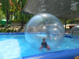 bubble ball on water