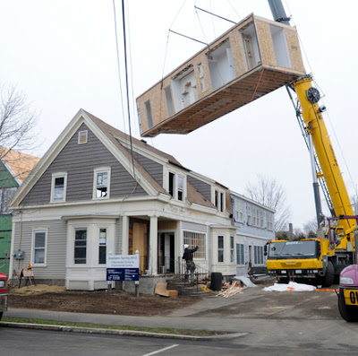 Modular home builder new england homes delivers condo for New england home builders