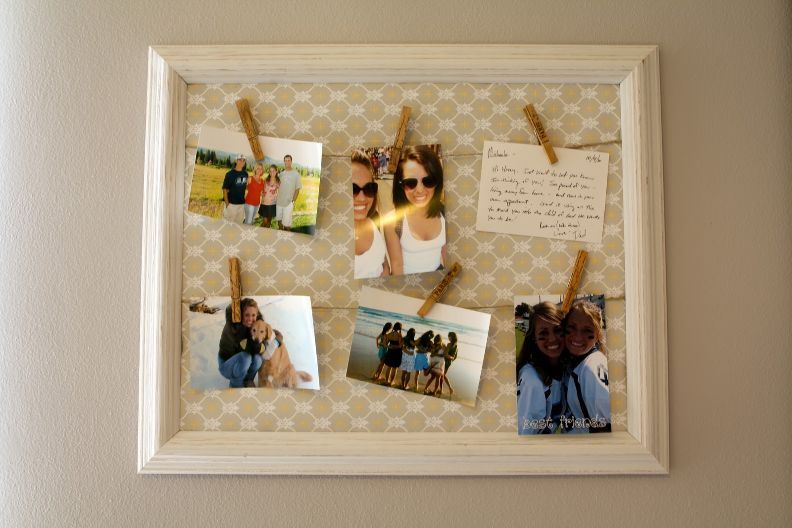 diy clothespin bulletin board