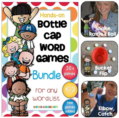 Bottle Cap Games Bundle for Centers TpT