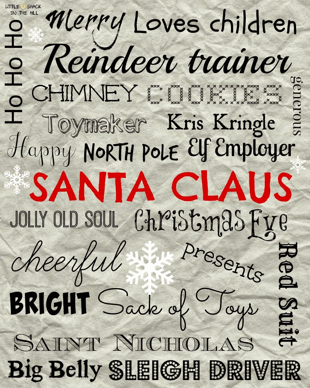 free printable, Santa Claus printable, Santa printable