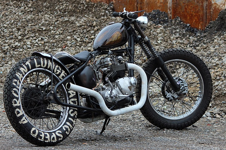Arrogant Triumph T100r Bobber Return Of The Cafe Racers