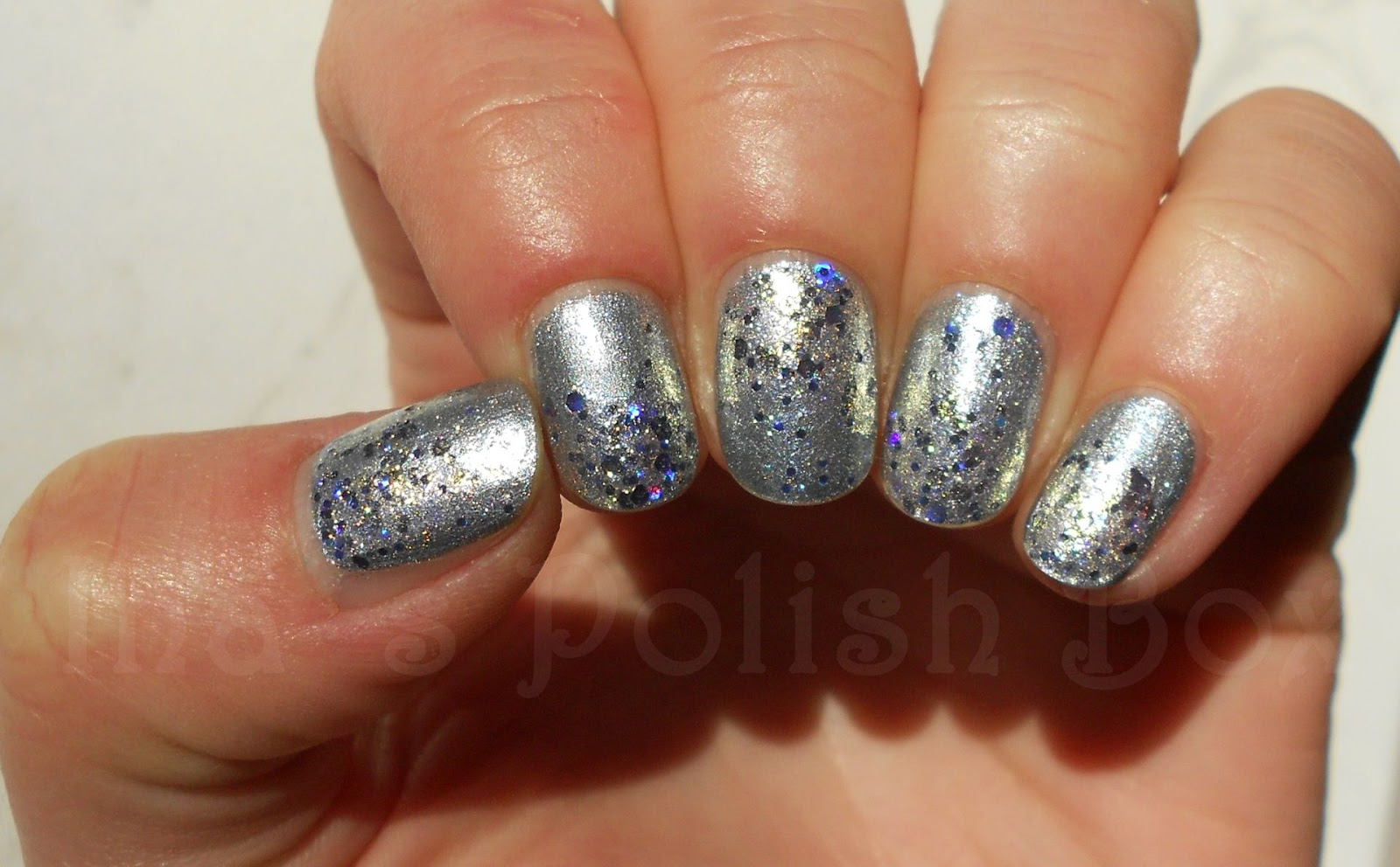 Essie Encrusted Treasures On a silver platter