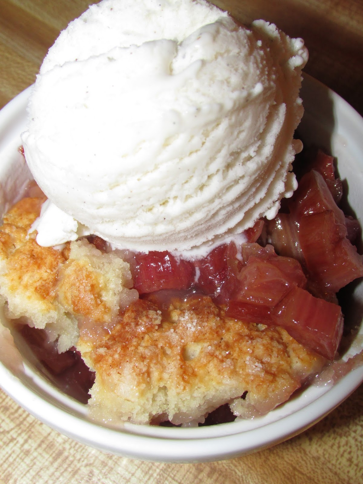 For the Love of Food: Rhubarb Cobbler Inspired by the ...